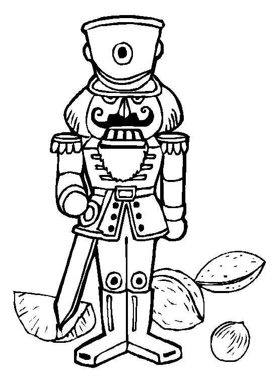 simple nutcracker coloring pages - photo#14